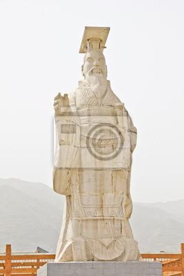 Chiński posąg cesarza