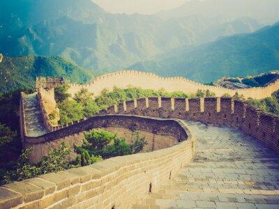 Fototapeta Chiński Wielki Mur retro wygląd