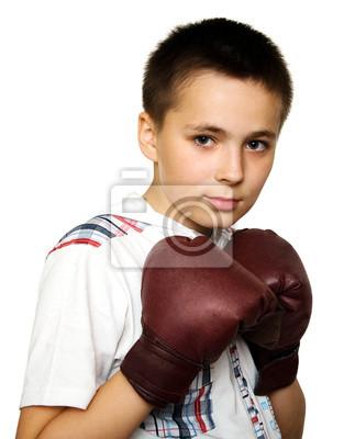 Chłopiec boks