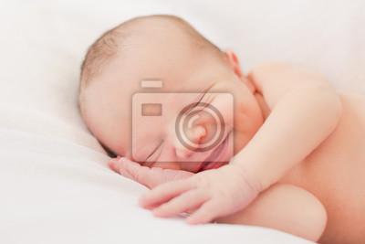Fototapeta Chłopiec newborn niemowlęcia