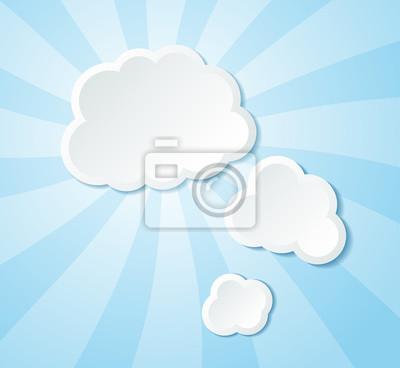 Chmury tle papieru.
