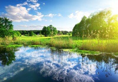Fototapeta Chmury w rzece