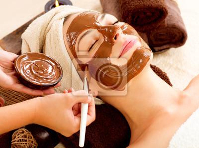Chocolate Mask Facial Spa. Salon Spa Beauty