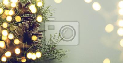 Fototapeta choinki światła