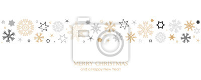 Fototapeta christmas card with snowflake border vector illustration EPS10