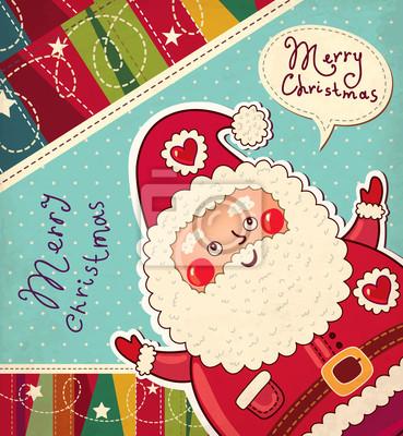 Christmas ilustracji wektorowych z Zabawna Mikołajem