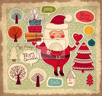 Christmas ilustracji z Funny Santa Claus