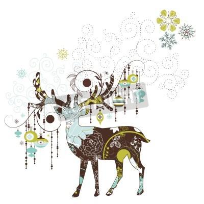 Fototapeta Christmas jelenie