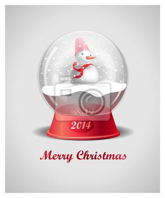 Christmas Snow Globe Z Snowman
