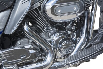 Fototapeta chromowane metalowe kratki motocykl