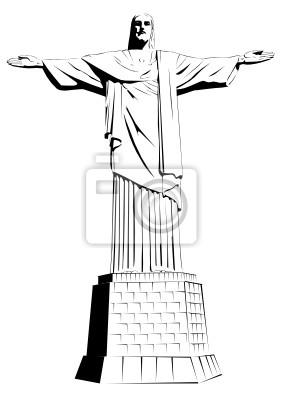 Fototapeta Chrystus Odkupiciel - szczegółowe ilustracji wektorowych