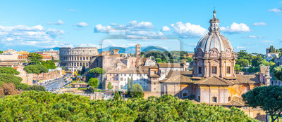 Fototapeta Church of Saint Luca and Martina, Italian: Santi Luca e Martina, in Roman Forum, Rome, Italy. Panoramic view