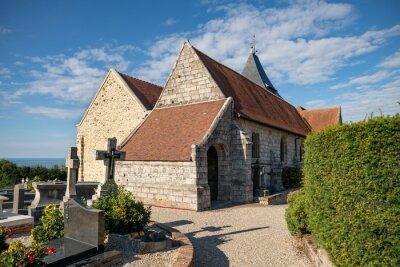 Fototapeta Church Saint Valery and graveyard in Varangeville sur mer