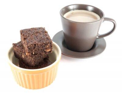 Fototapeta ciasteczka z kawy samodzielnie na białym tle