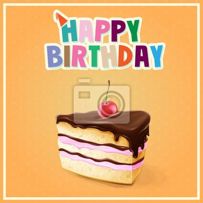Ciasto banner z okazji urodzin