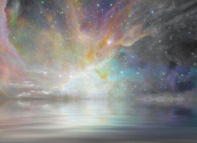 Fototapeta Ciche Wody i Starry Sky