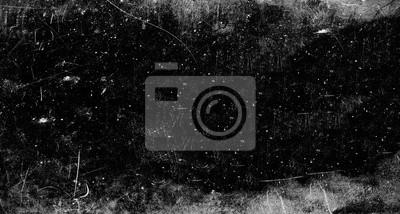 Fototapeta Ciemne porysowane tło grunge, stary efekt filmu