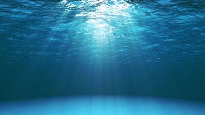 Fototapeta Ciemny niebieski ocean powierzchnia widziana z wodą