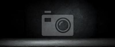 Fototapeta Ciemny pokój z podłogami z płytek i cegły ściany tło