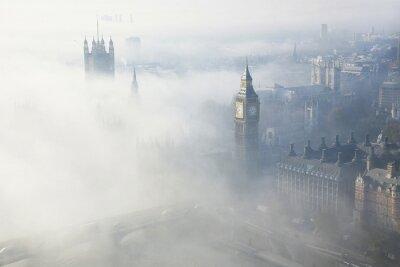 Fototapeta Ciężka mgła uderza Londyn