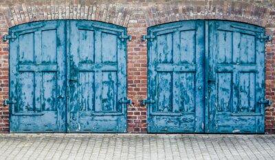 Fototapeta Ciężkie drewniane drzwi rustykalne