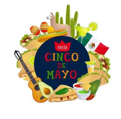 Fototapeta Cinco de Mayo Mexican traditional holiday fiesta