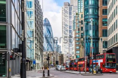 Fototapeta City View of London wokół stacji Liverpool Street
