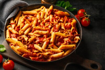 Fototapeta Classic penne pasta with tomato sauce