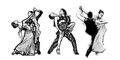 Fototapeta classical dancers trio