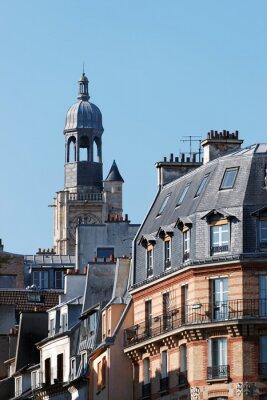 Fototapeta clocher et Immeubles du 5ème arrondissement