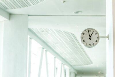 Fototapeta clock station, time concept, industrial background