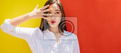 Fototapeta Close up of an asian woman