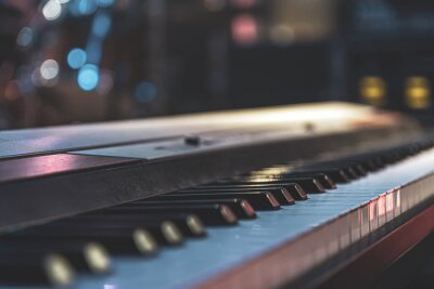 Fototapeta Close up of keys of an electronic piano.