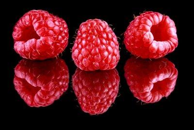 Fototapeta Close-up Of Raspberries On Table