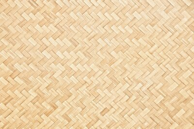Fototapeta Close up traditional handcraft woven bamboo pattern for background.