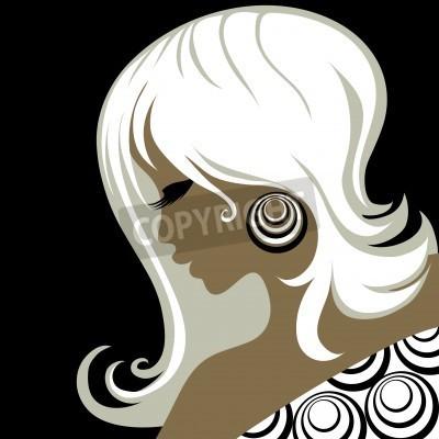 Fototapeta Closeup dekoracyjne rocznika kobieta z piękne włosy