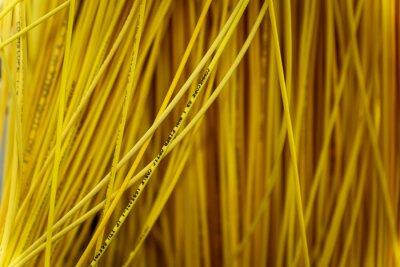 Fototapeta Closeup of yellow wires