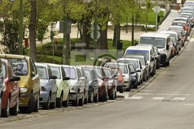 Fototapeta Coches aparcados pl Fila