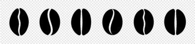 Fototapeta coffee beans icon set. vector illustration