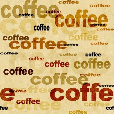 Fototapeta Coffee - bezszwowe tło grunge