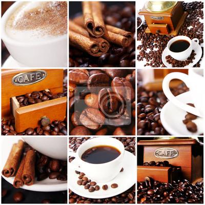 Fototapeta Coffee collage