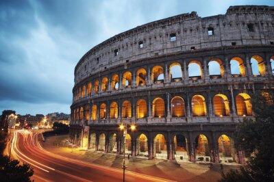 Fototapeta Coliseum w nocy. Rzym - Włochy