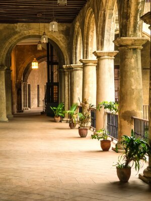 Fototapeta Colonial pałac w Starej Hawanie
