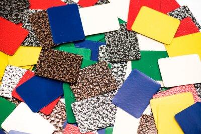 Fototapeta Color powder coatings on  profiles