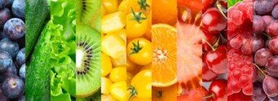 Fototapeta Colorful fruits, vegetables and berries.