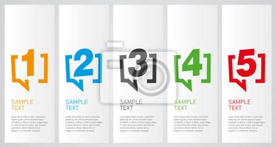 Fototapeta Colorful infographics design vector layout business concept 1 2 3 4 5 option step process