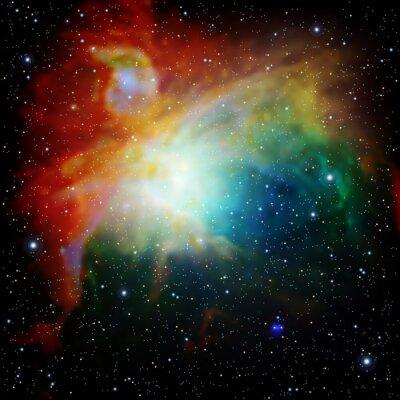 Fototapeta Colorful Universe filled with stars nebula and galaxy