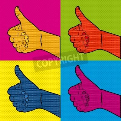 Fototapeta comics ok icons over doted orange background vector illusttration