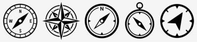 Fototapeta Compass icon set. Compass symbol. Vector
