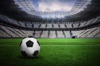 Fototapeta Composite obraz czarno-białe skórzane piłki nożnej
